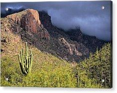 Mount Kimball Storm Acrylic Print