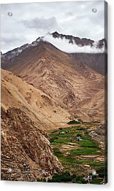 Acrylic Print featuring the photograph Mountain Farming by Whitney Goodey