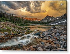 Mountain Glow Acrylic Print by Leland D Howard