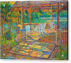 Mountain Lake Shadows Acrylic Print