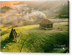 Mountain Landscape In Summer Morning Acrylic Print
