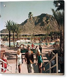 Mountain Shadows Resort Acrylic Print by Slim Aarons