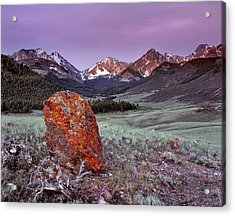 Mountain Textures And Light Acrylic Print by Leland D Howard