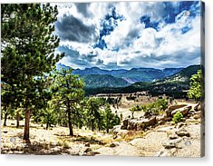 Acrylic Print featuring the photograph Mountains Across The Way by James L Bartlett