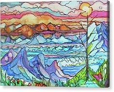 Mountains And Sea Acrylic Print