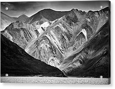 Acrylic Print featuring the photograph Mountains At Pangong by Whitney Goodey