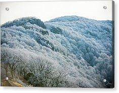 Mountainside Hoarfrost Acrylic Print