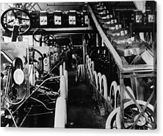 Moving Assembly Line Acrylic Print by Hulton Archive
