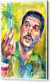 Mr Bad Guy - Freddie Mercury Portrait Acrylic Print