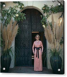 Mrs James Hoover Acrylic Print by Slim Aarons