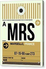 Mrs Marseille Luggage Tag I Acrylic Print