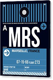 Mrs Marseille Luggage Tag II Acrylic Print
