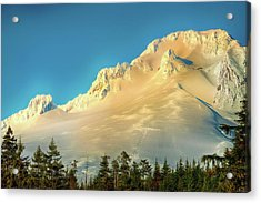 Acrylic Print featuring the photograph Mt. Hood In Late Afternoon Sunlight by Dee Browning