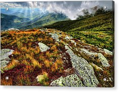Mt. Washington Nh, Autumn Rays Acrylic Print