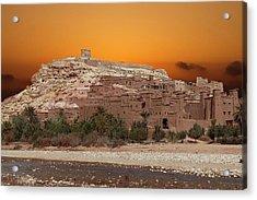 Mud Brick Buildings Of The Ait Ben Haddou Acrylic Print