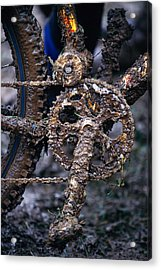 Muddy Bicycle, Close-up Acrylic Print by Anton Want