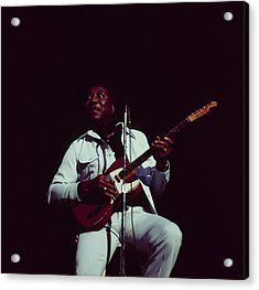 Muddy Waters Perfoms On Stage Acrylic Print by David Redfern