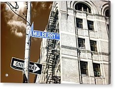 Mulberry Street Infrared New York City Acrylic Print