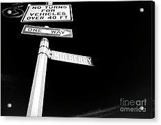 Mulberry Street One Way New York City Acrylic Print