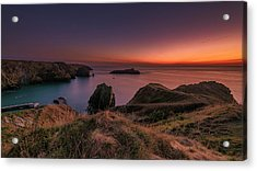Mullion Cove - Sunset 2 Acrylic Print