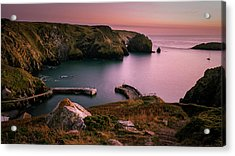 Mullion Cove Sunset - Cornwall General View Acrylic Print