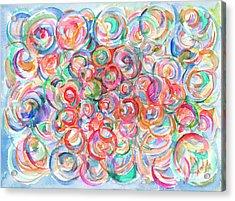 Multicolor Bubbles Acrylic Print
