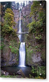 Acrylic Print featuring the photograph Multnomah Fallas 110718 by Rospotte Photography
