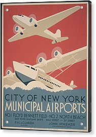 Municipal Airports Poster Acrylic Print by Fotosearch