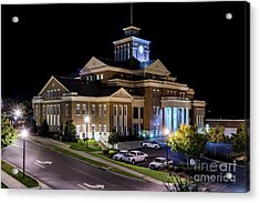 Municipal Center At Night - North Augusta Sc Acrylic Print