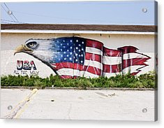 Mural Of Bald Eagle Merging With Acrylic Print