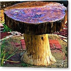 Mushroom Table Acrylic Print