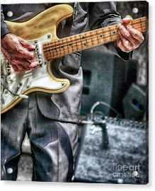 Music By The Neck  Acrylic Print by Steven Digman