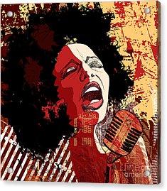Music Jazz - Afro American Jazz Singer Acrylic Print