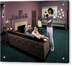 Musician Frank Zappa R W. Parents L-r Acrylic Print