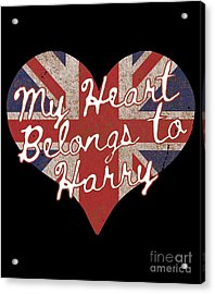 My Heart Belongs To Prince Harry Acrylic Print