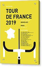 My Tour De France Minimal Poster 2019 Acrylic Print