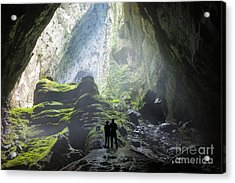 Mystery Misty Cave Entrance In Son Acrylic Print