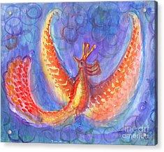 Mystical Phoenix Acrylic Print