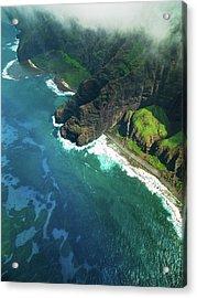 Na Pali Coast Kauai Island Hawaiian Acrylic Print by Mlenny