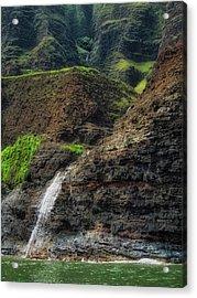 Na Pali Coast Waterfall Acrylic Print
