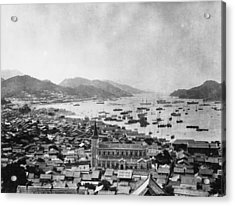 Nagasaki Harbour Acrylic Print by Topical Press Agency