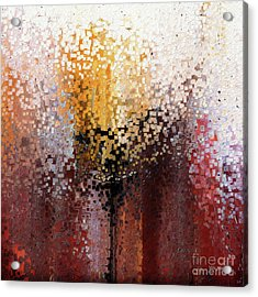 Acrylic Print featuring the painting Nahum 1 7. A Stronghold by Mark Lawrence