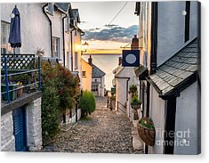 Narrow Cobbled Streets Lined With Acrylic Print