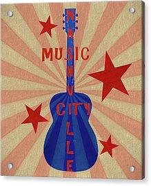 Nashville Music City Pop Art Acrylic Print