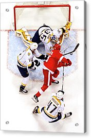 Nashville Predators V Detroit Red Wings Acrylic Print by Gregory Shamus