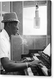 Nat King Cole Recording Acrylic Print
