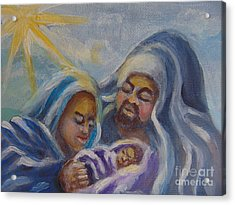 Acrylic Print featuring the painting Nativity by Saundra Johnson
