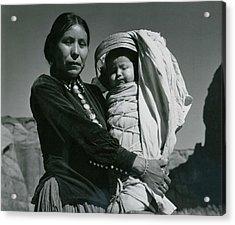Navajo Woman And Infant, Canyon De Acrylic Print