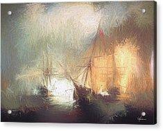 Naval Battle Acrylic Print