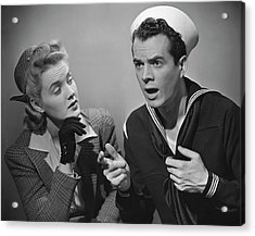Navy Couple Acrylic Print by George Marks
